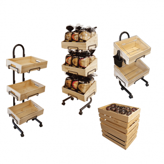 Produce Wooden Crate Stand sets