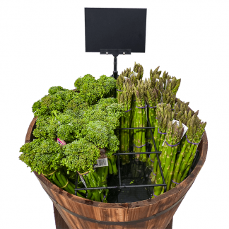 Wooden Barrels for Asparagus, herb bunches