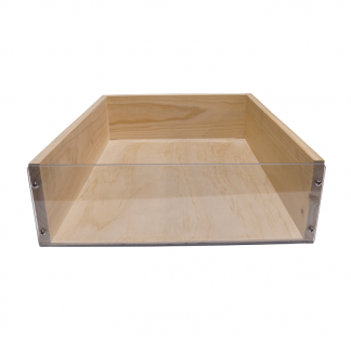 Clear Fronted Wooden Crate