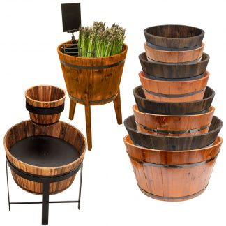 Wooden Display Barrels & Stands