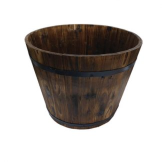 500mm diameter wooden barrel - dark stain