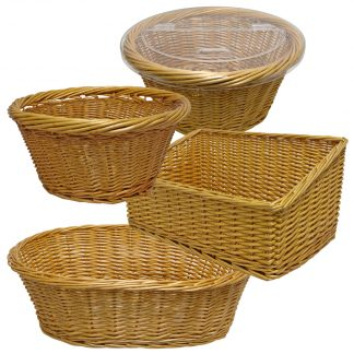 Natural Wicker Baskets for Bakery
