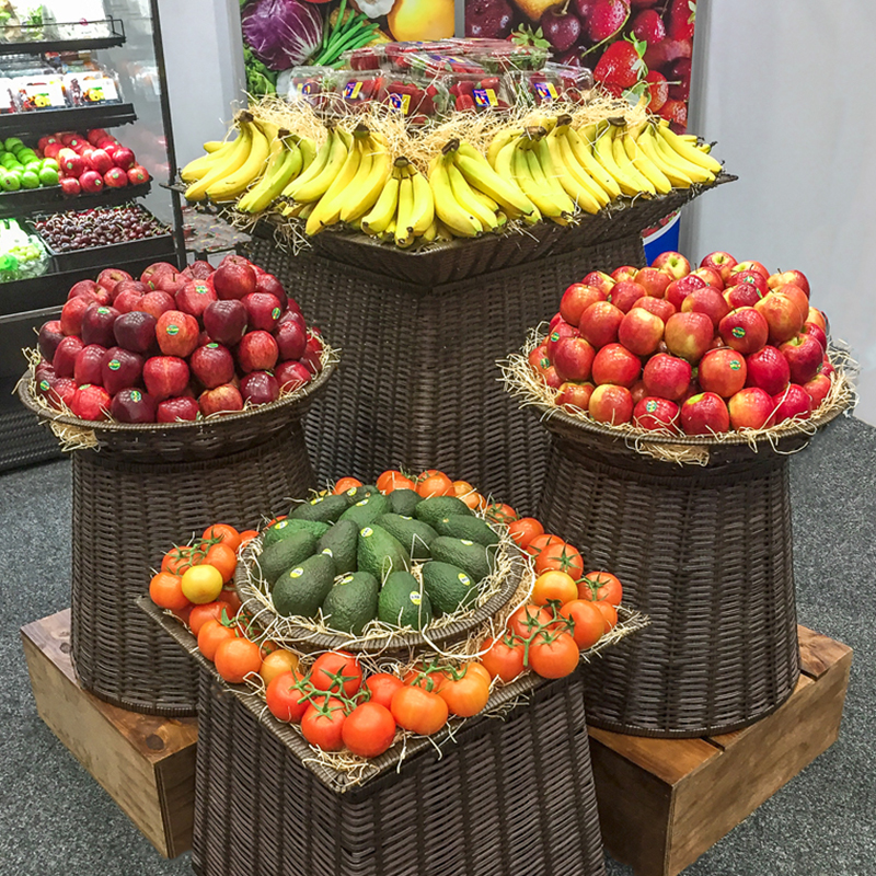 Produce Island and display boxes