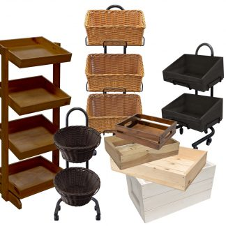 Wooden Crates - Baskets - Display units
