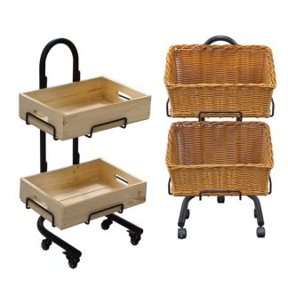 Wooden Crate & Basket Stands for Florists