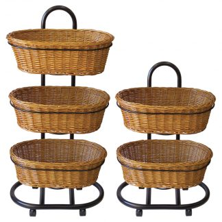 Natural Wicker Basket Stands for Bakery