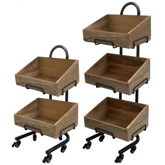 Wooden Crate Stands for Bakery