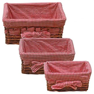 Natural Wicker Baskets for Catering