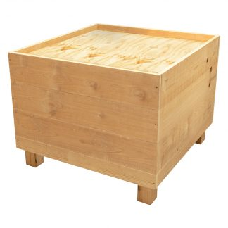 Raw pine produce bin - 900 x 900mm